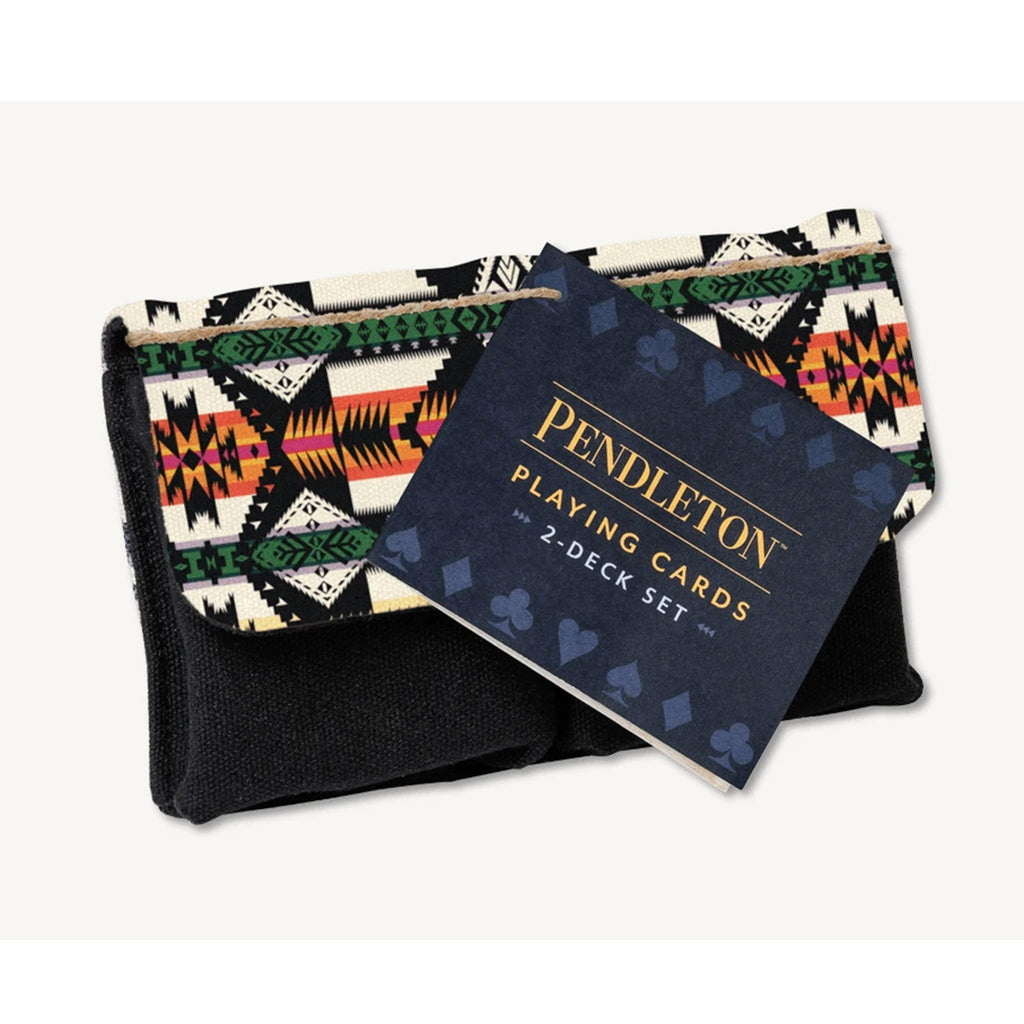 chronicle pendleton playing cards two deck set packaging