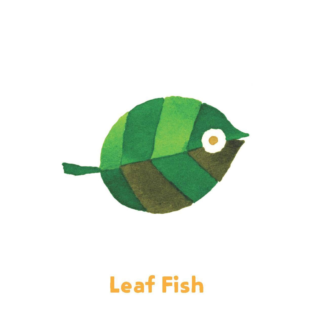 chronicle taro gomi funny fish go fish card game leaf fish illustration