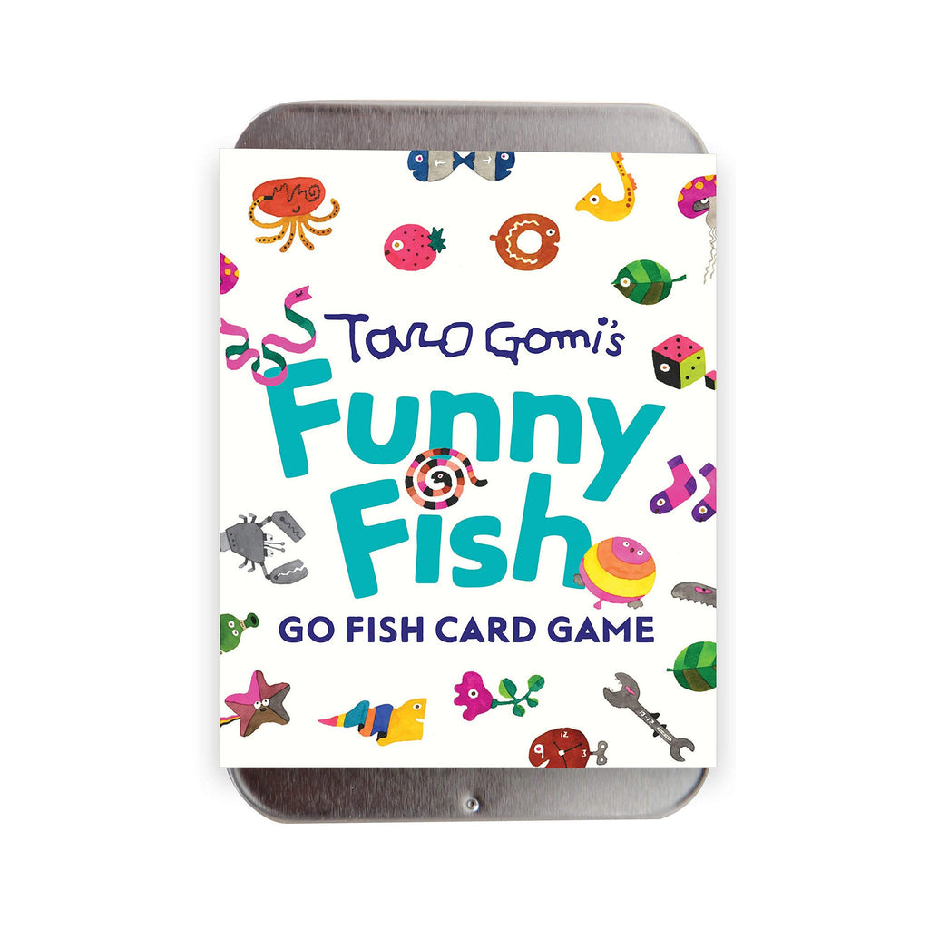 chronicle taro gomi funny fish go fish card game packaging