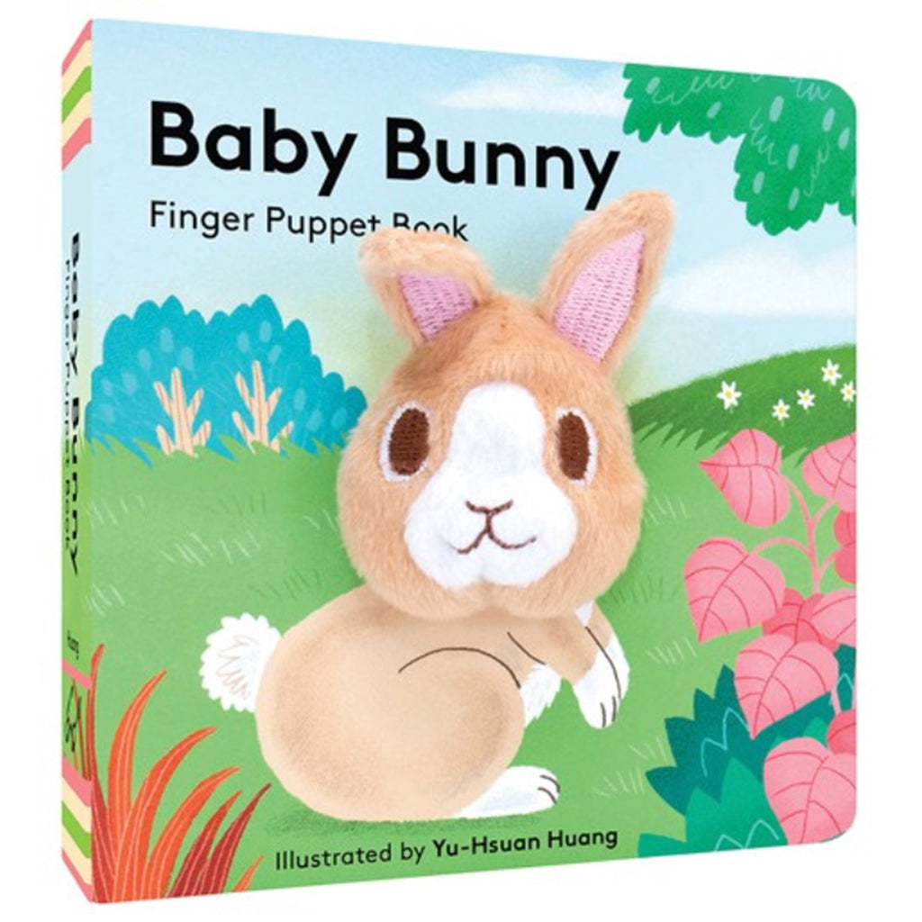 chronicle baby bunny finger puppet interactive board book
