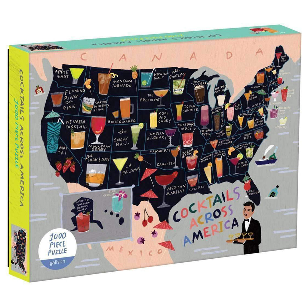 1000 piece cocktails across america jigsaw puzzle box