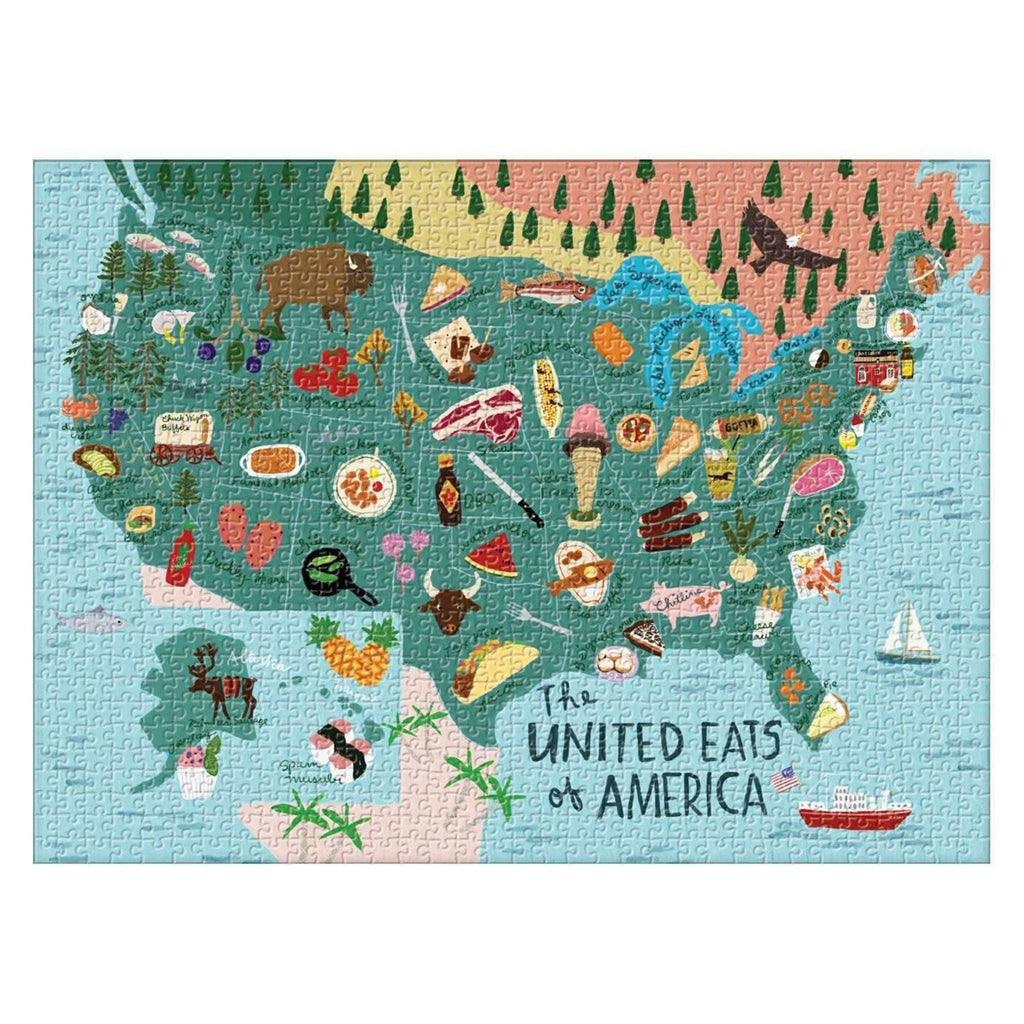 1000 piece united eats of america puzzle