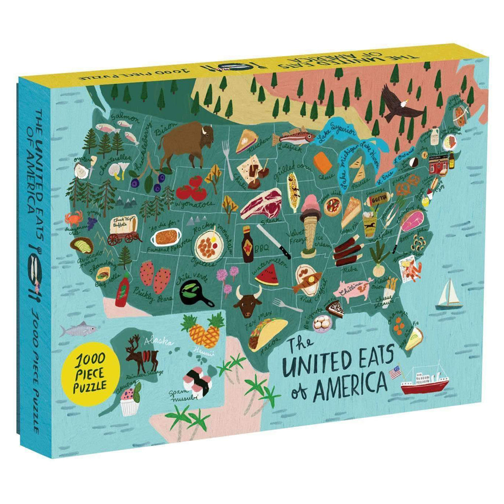 1000 piece united eats of america puzzle box