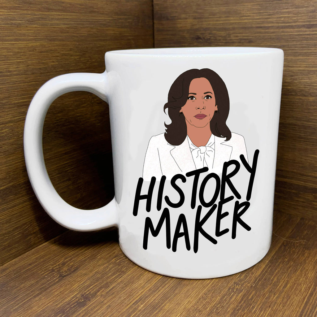 citizen ruth kamala harris vice president-elect history maker white ceramic coffee mug