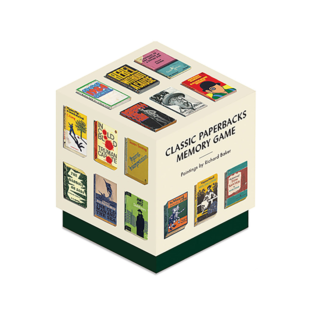 chronicle classic paperbacks memory matching game in packaging