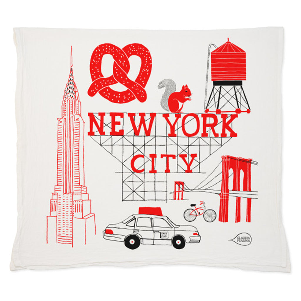 claudia pearson new york city tea towel