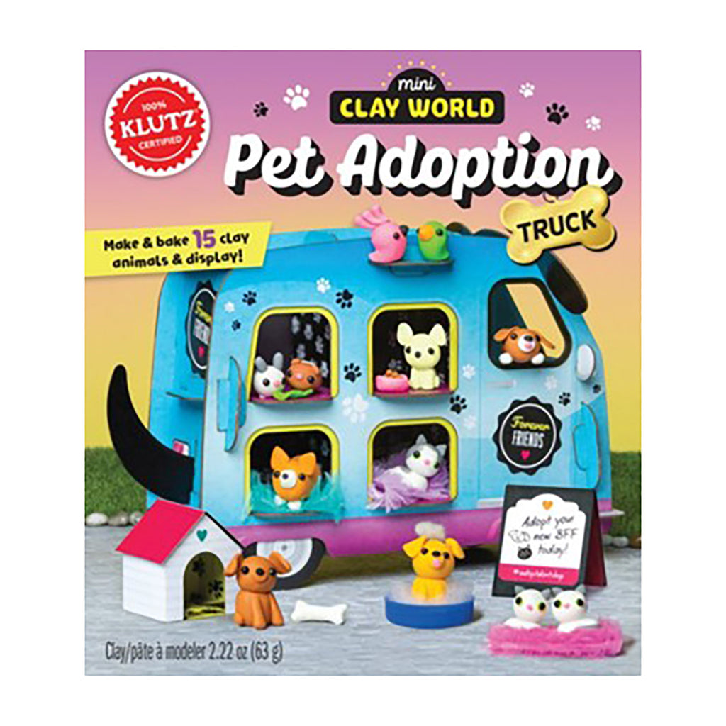 mini clay pet adoption truck box