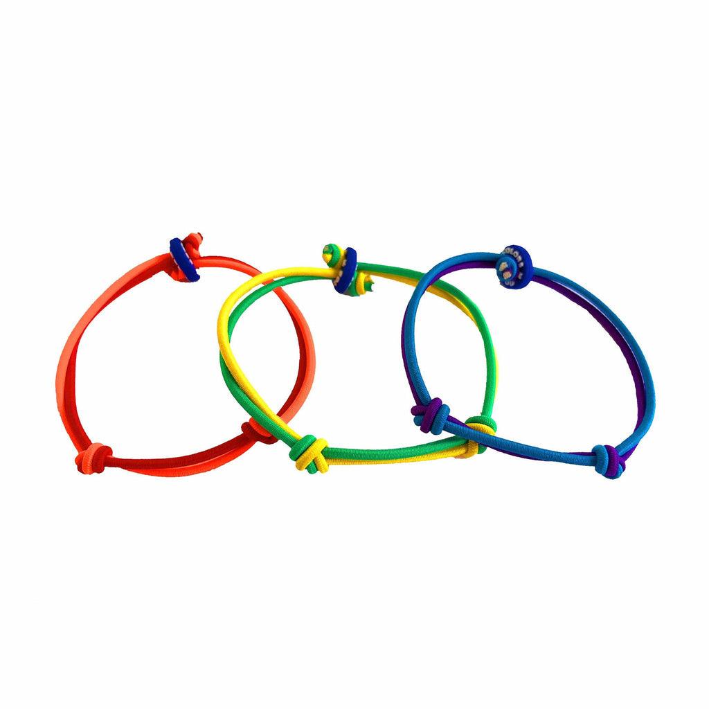 colors for good love is love pride bracelet set of three angle