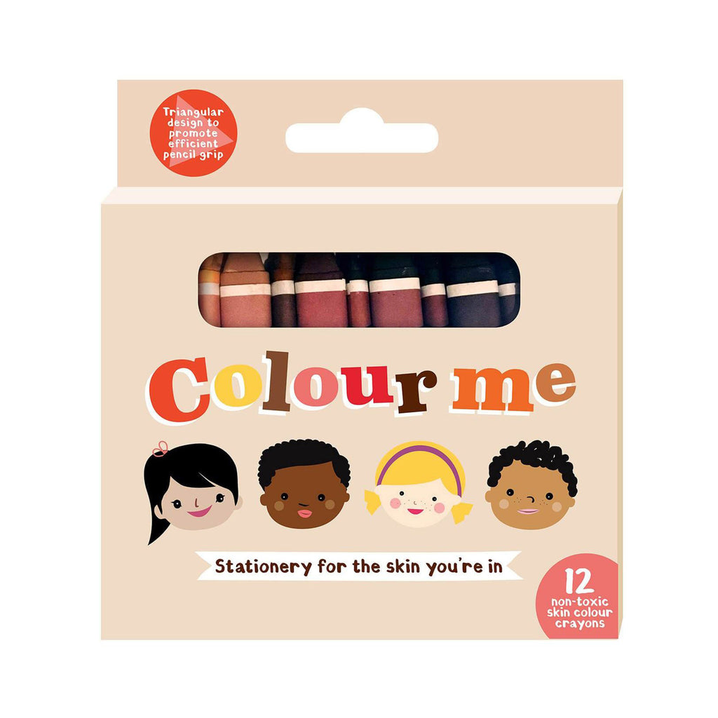 colour me kids skin color tone crayons 12 pack in packaging