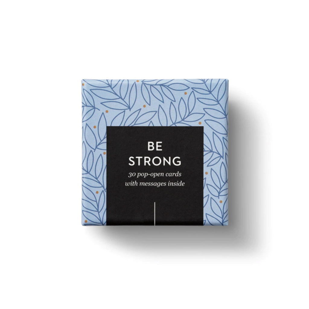 compendium be strong thoughtfulls pop open cards with different inspiring sentiments packaging top view