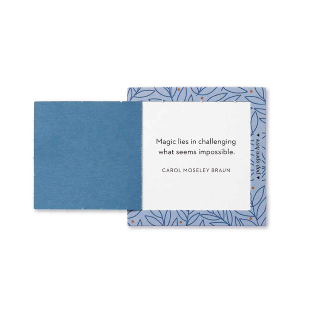 compendium be strong thoughtfulls pop open cards with different inspiring sentiments sample card