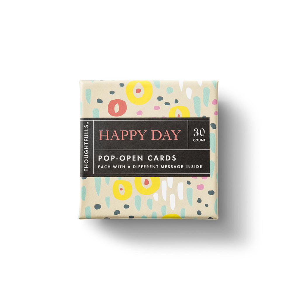 compendium happy day thoughtfulls pop open cards with different inspiring quotations in packaging