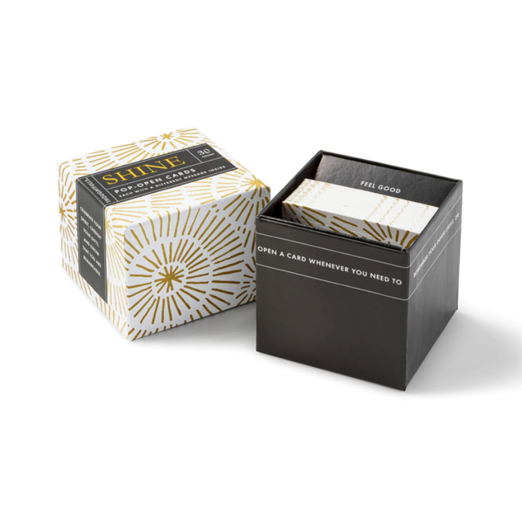 compendium shine thoughtfulls pop open cards with different inspiring quotes packaging lid off