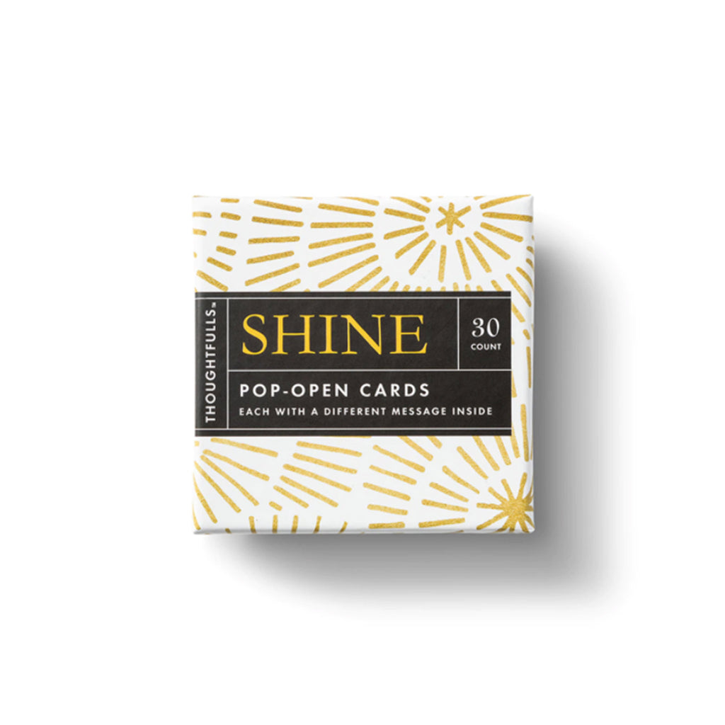 compendium shine thoughtfulls pop open cards with different inspiring quotes packaging top view