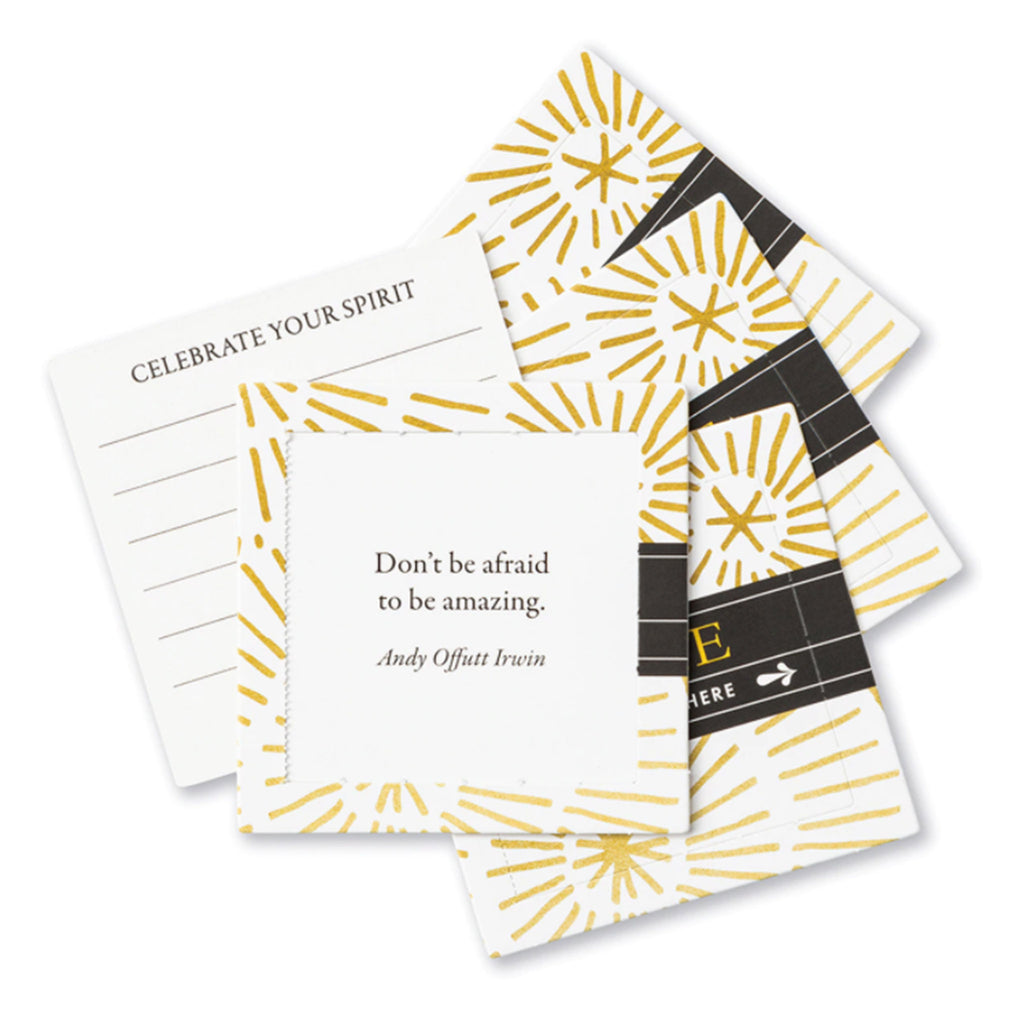 compendium shine thoughtfulls pop open cards with different inspiring quotes sample card