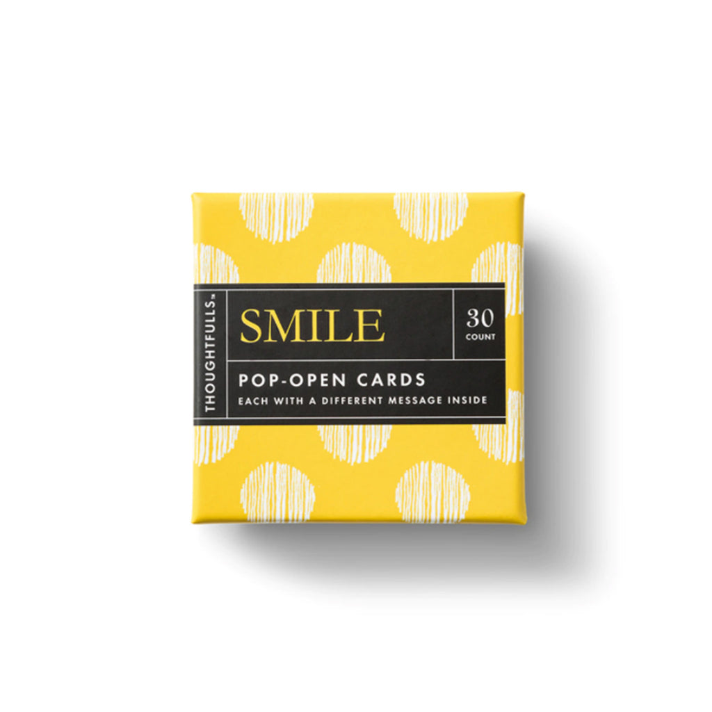 compendium smile thoughtfulls pop open cards with different inspiring quotes packaging top view