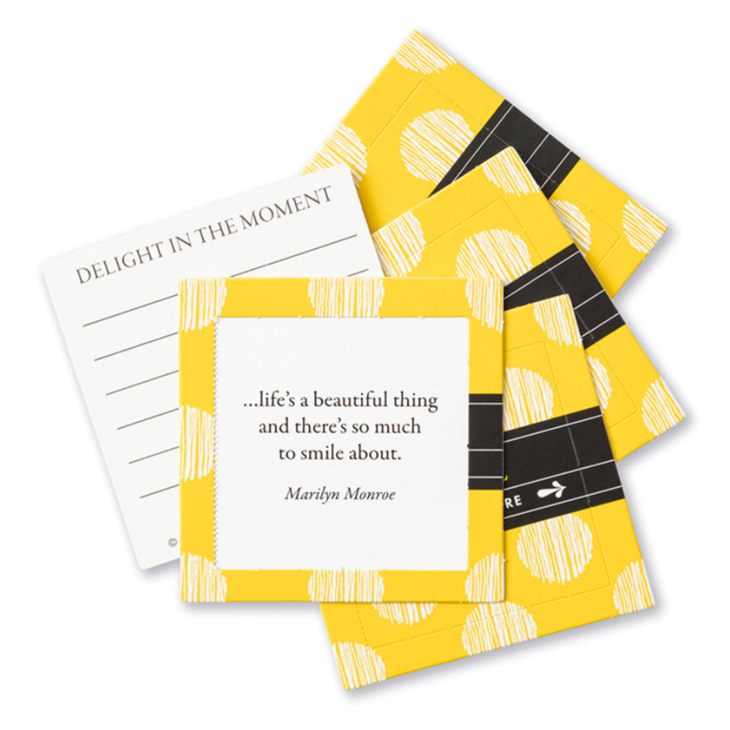 compendium smile thoughtfulls pop open cards with different inspiring quotes sample card