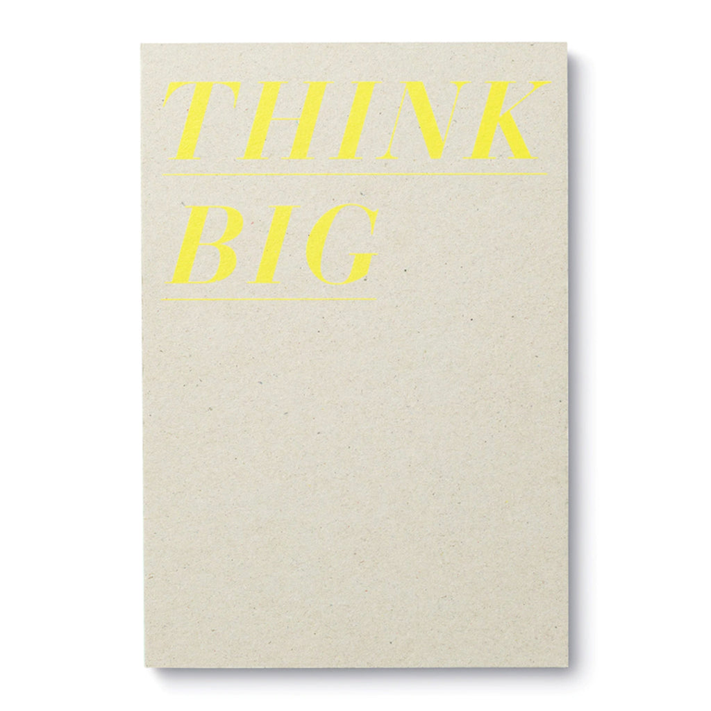 compendium think big exposed binding hardcover journal notebook with lined pages cover