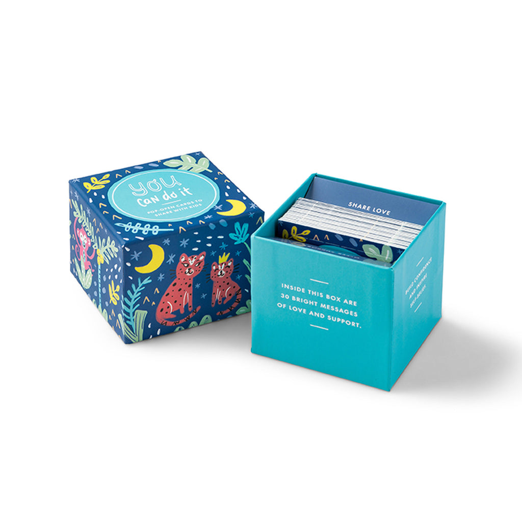 compendium you can do it thoughtfulls for kids pop open cards with different inspiring quotations in packaging with lid off
