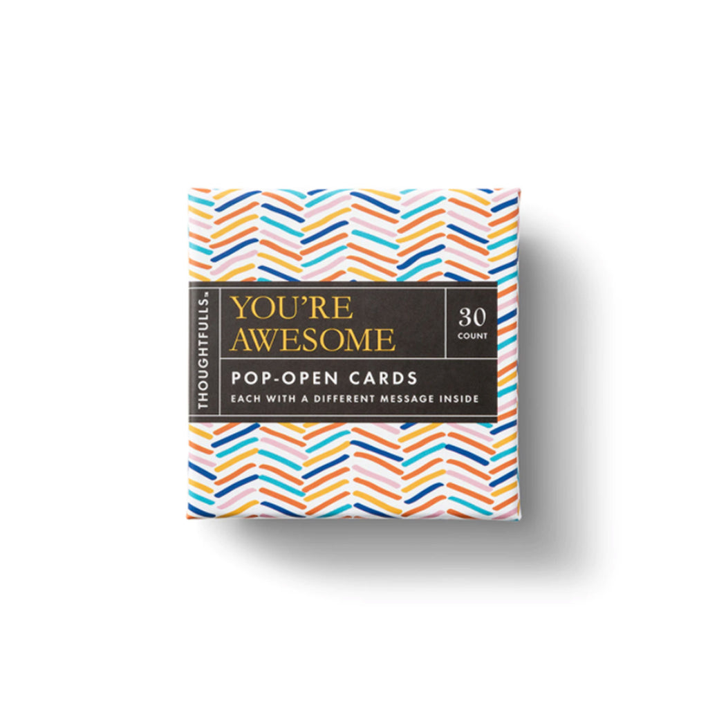 compendium you're awesome thoughtfulls pop open cards with different inspiring quotes packaging top view