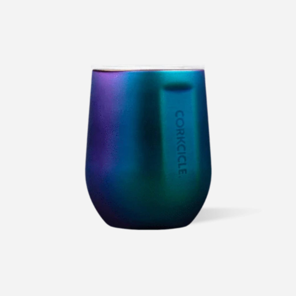corkcicle dragonfly insulated stemless cup with clear spill resistant lid