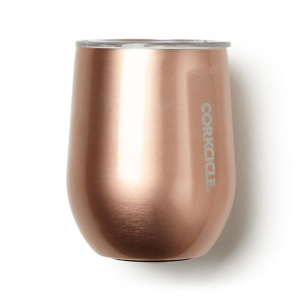 corkcicle stemless cup in copper