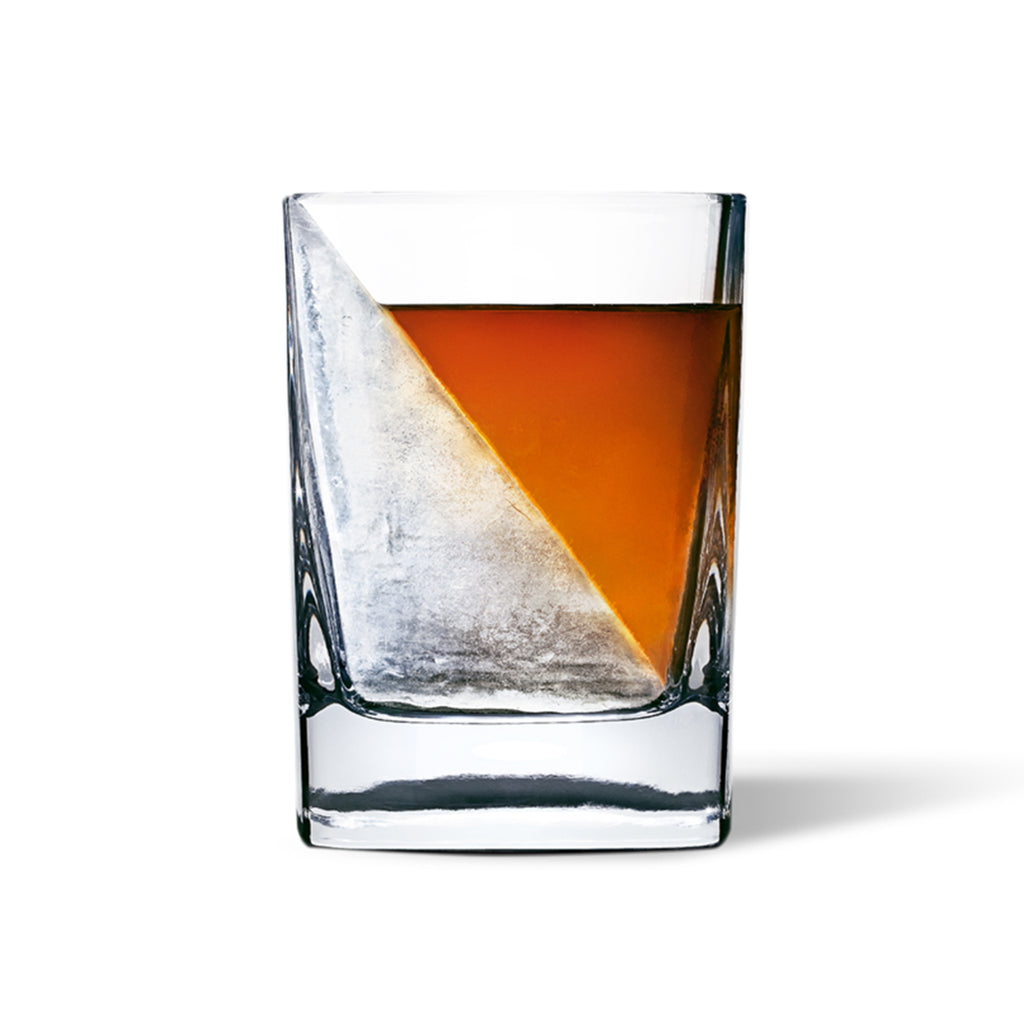 corkcicle whiskey wedge glass with ice