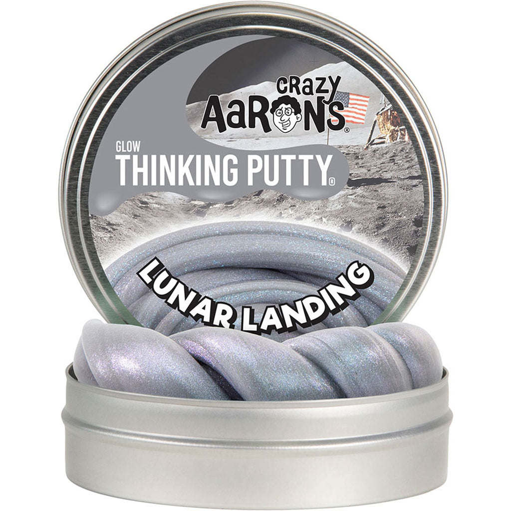 crazy aaron's glow thinking putty in lunar landing