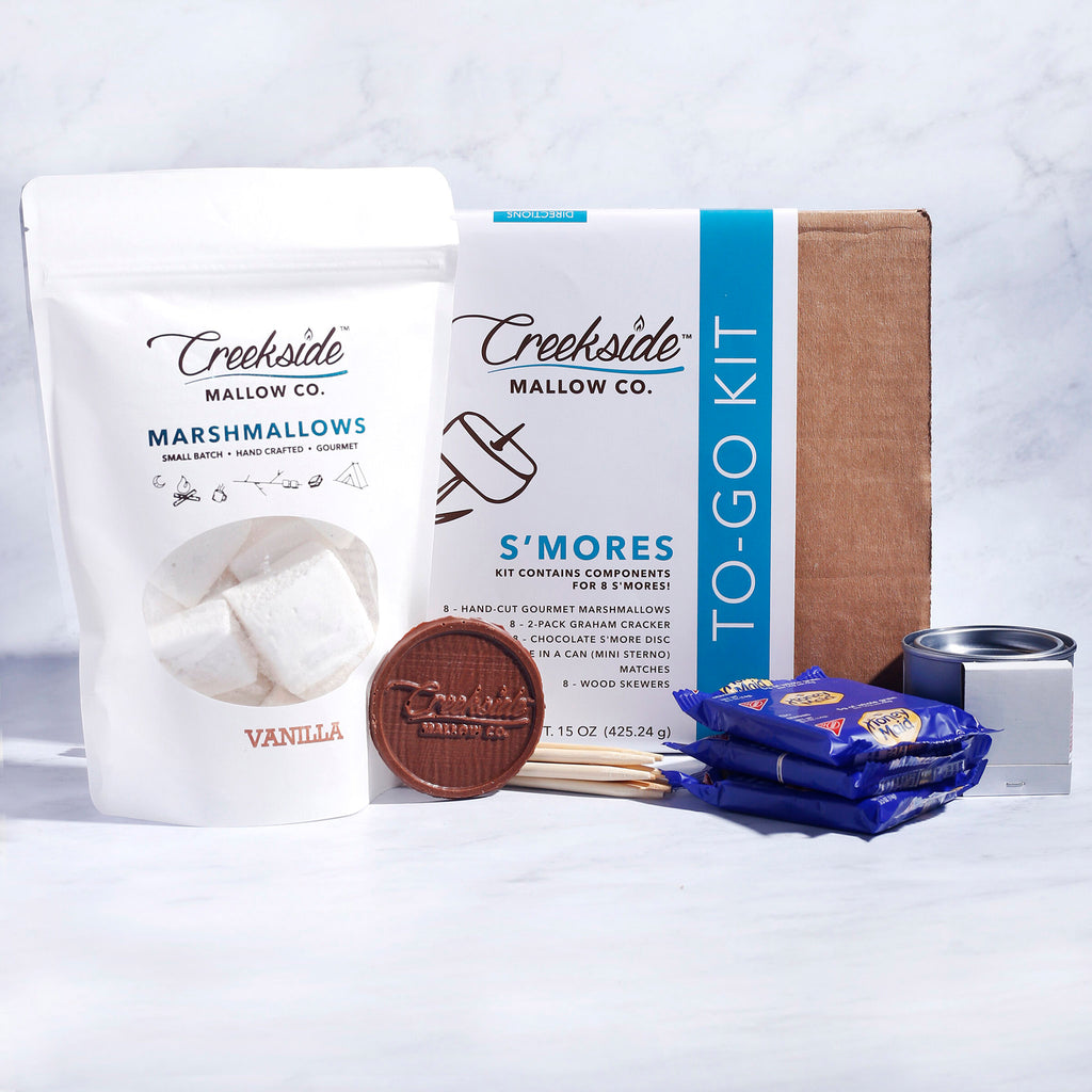 creekside mallow company gourmet s'mores to go kit in packaging with contents