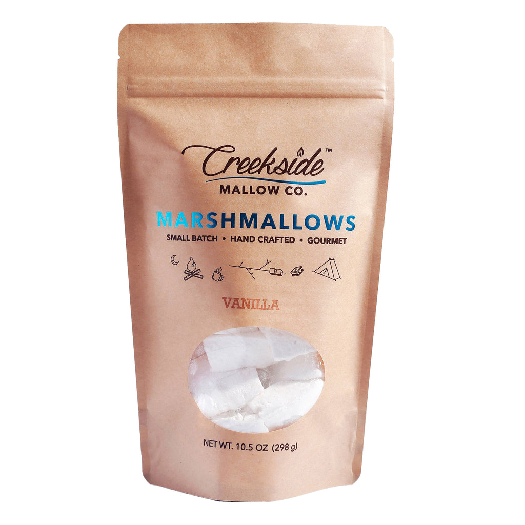 creekside mallow company vanilla flavored marshmallows 12 pack in resealable bag