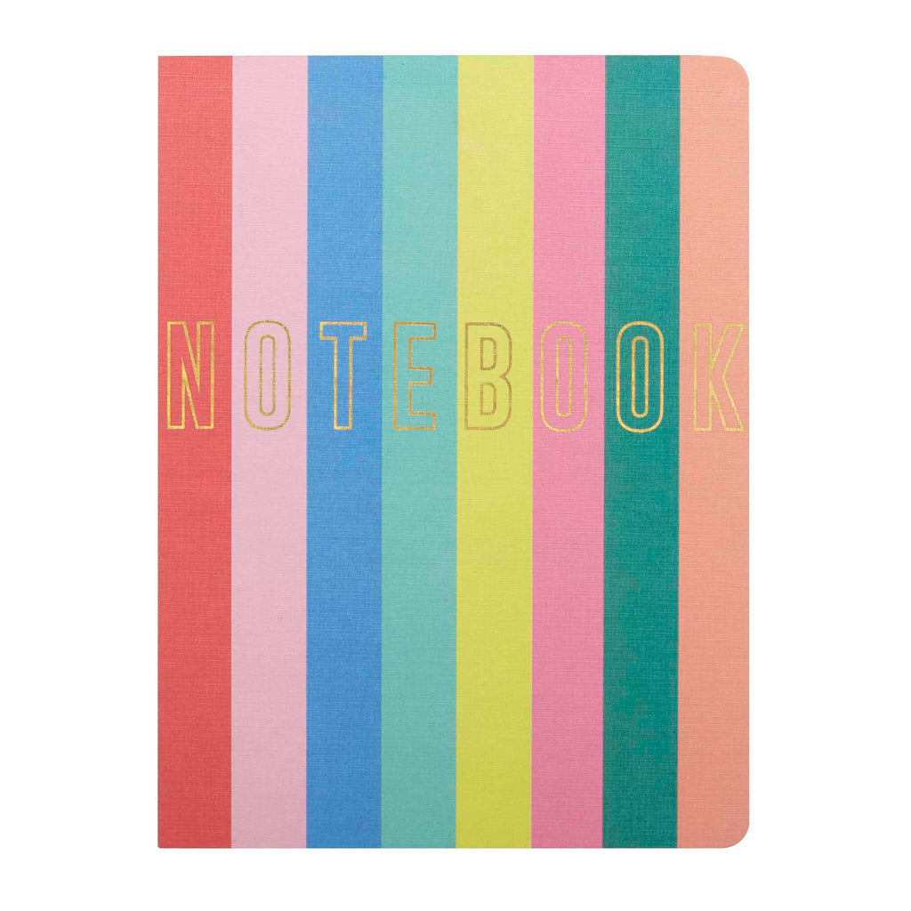 open spine bound rainbow journal cover