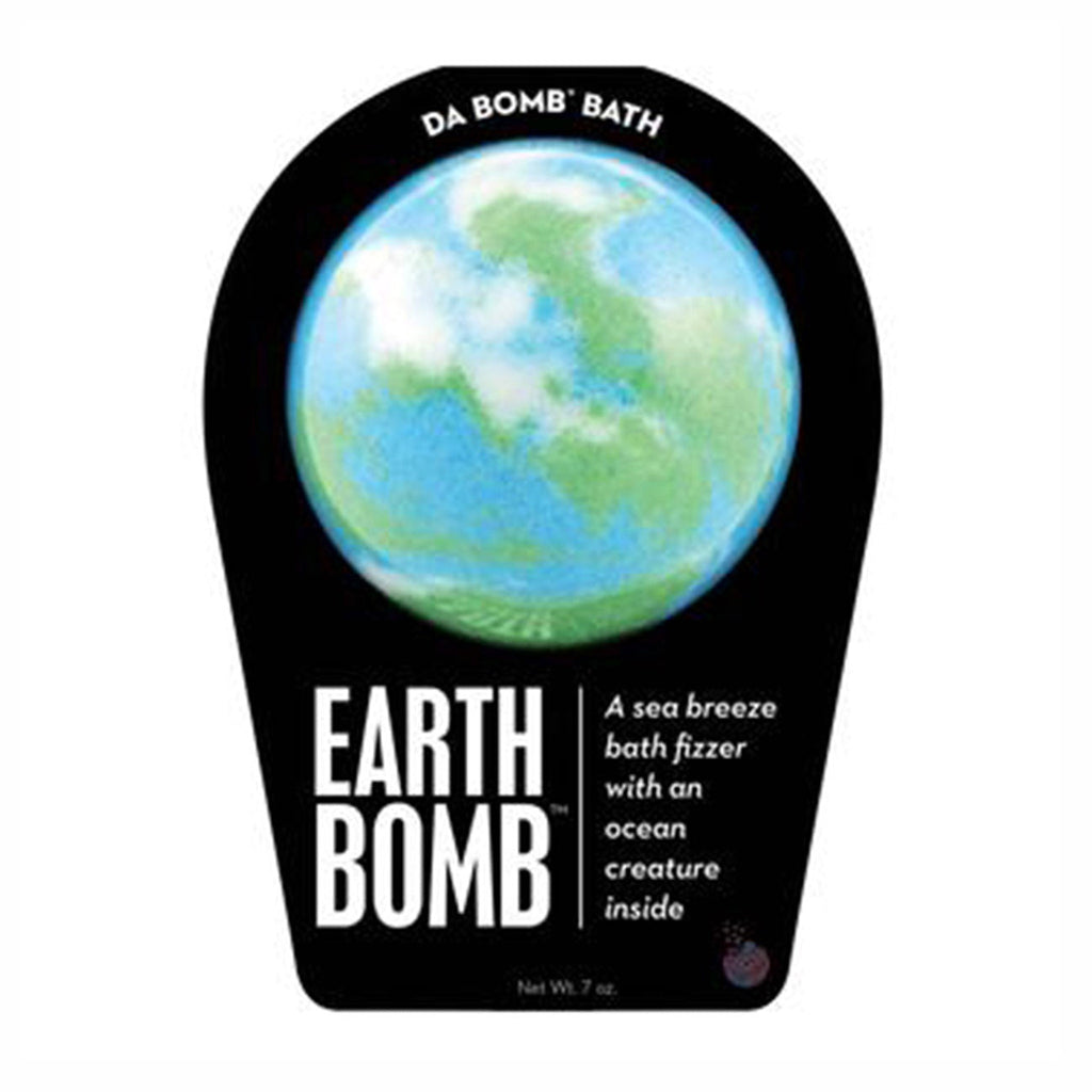 da bomb earth bomb sea breeze scented bath fizzer with ocean creature surprise inside in packaging front