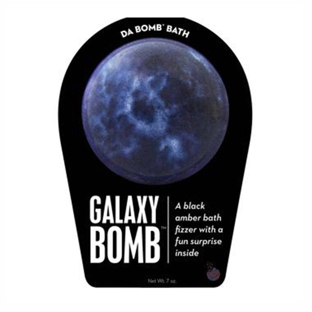 da bomb galaxy bomb bath fizzer with surprise inside front of packaging