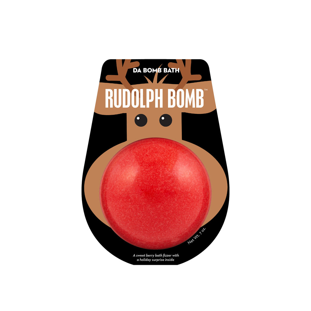 da bomb rudolph the reindeer sweet berry scented holiday bath bomb fizzer in packaging