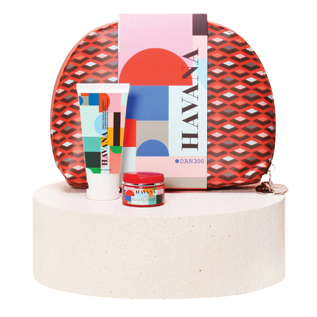 dan300 havana beauty bag three piece gift set