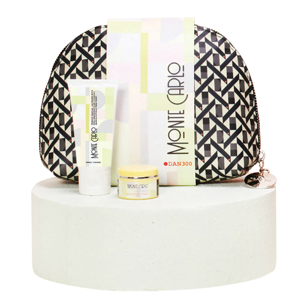 dan300 monte carlo beauty bag three piece gift set