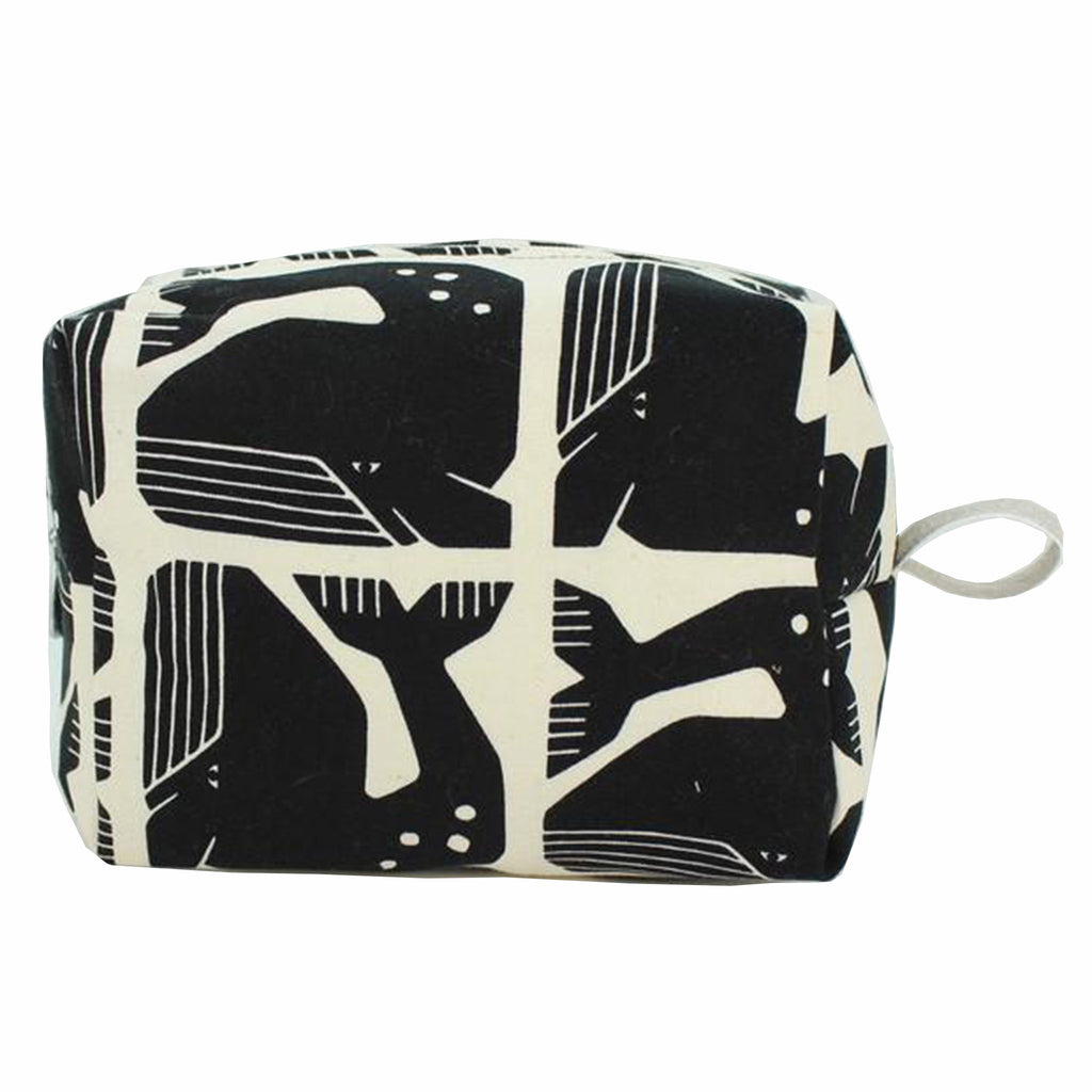 dana herbert black white whale medium cotton canvas dopp kit cosmetic bag
