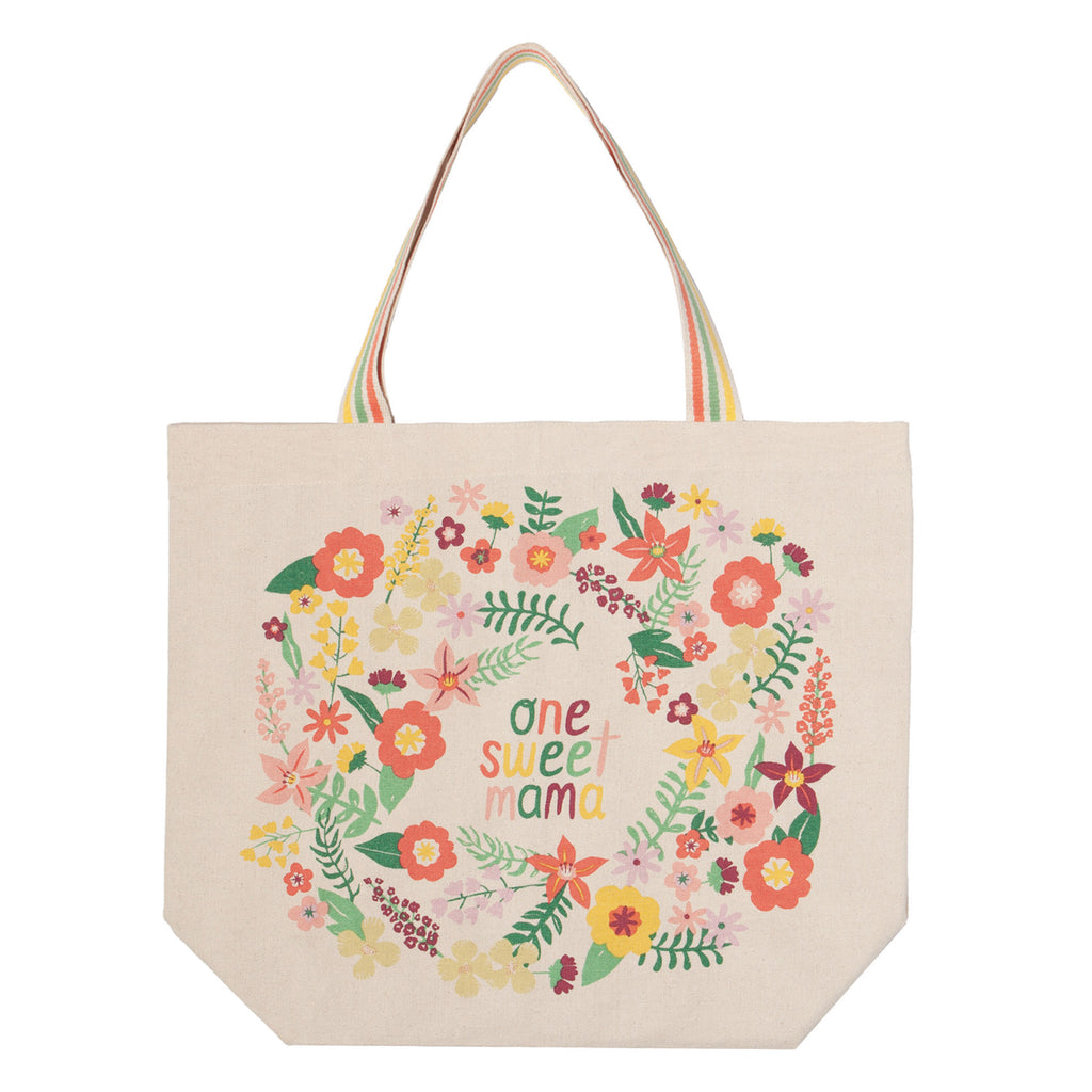 danica now designs one sweet mama cotton tote bag