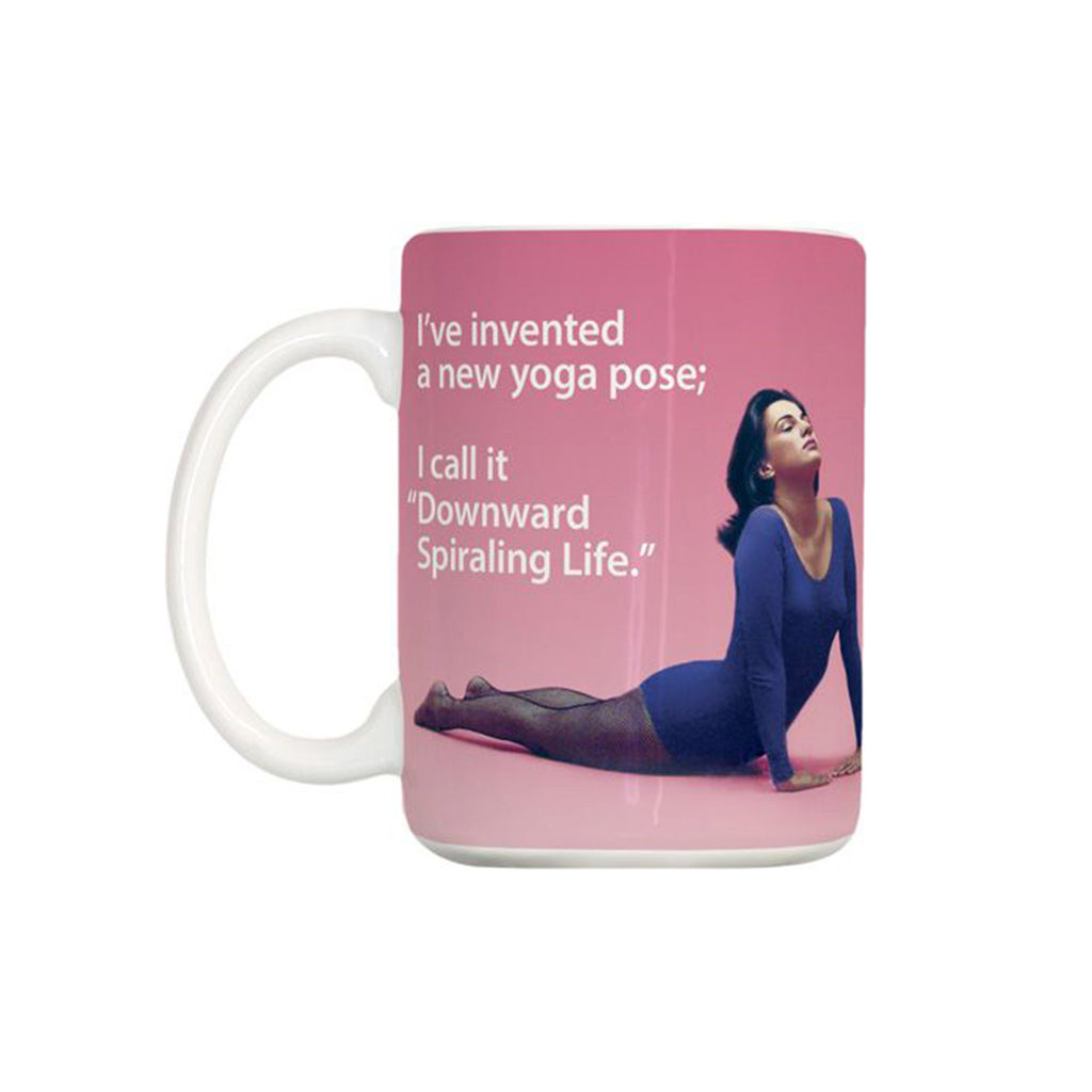 design design yoga downward spiraling life ceramic coffee mug