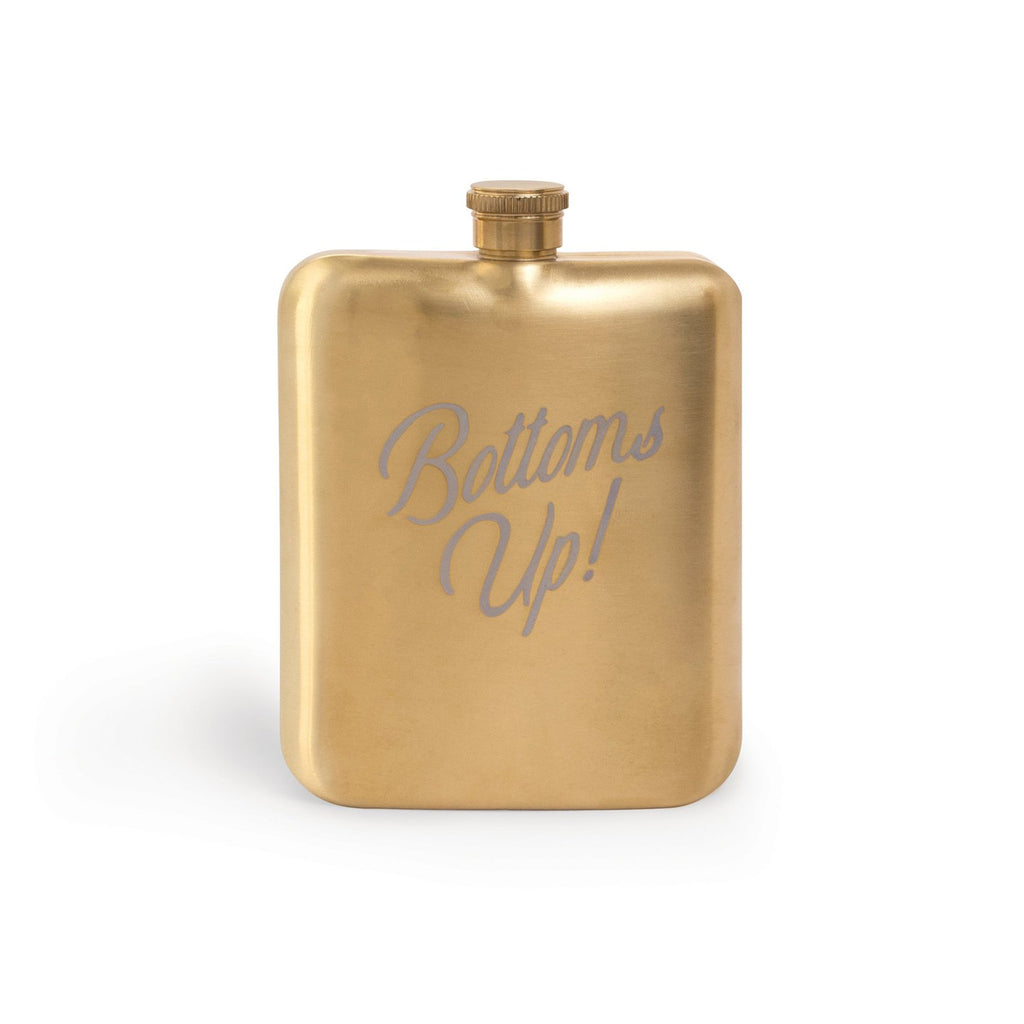 designworks gold bottoms up flask