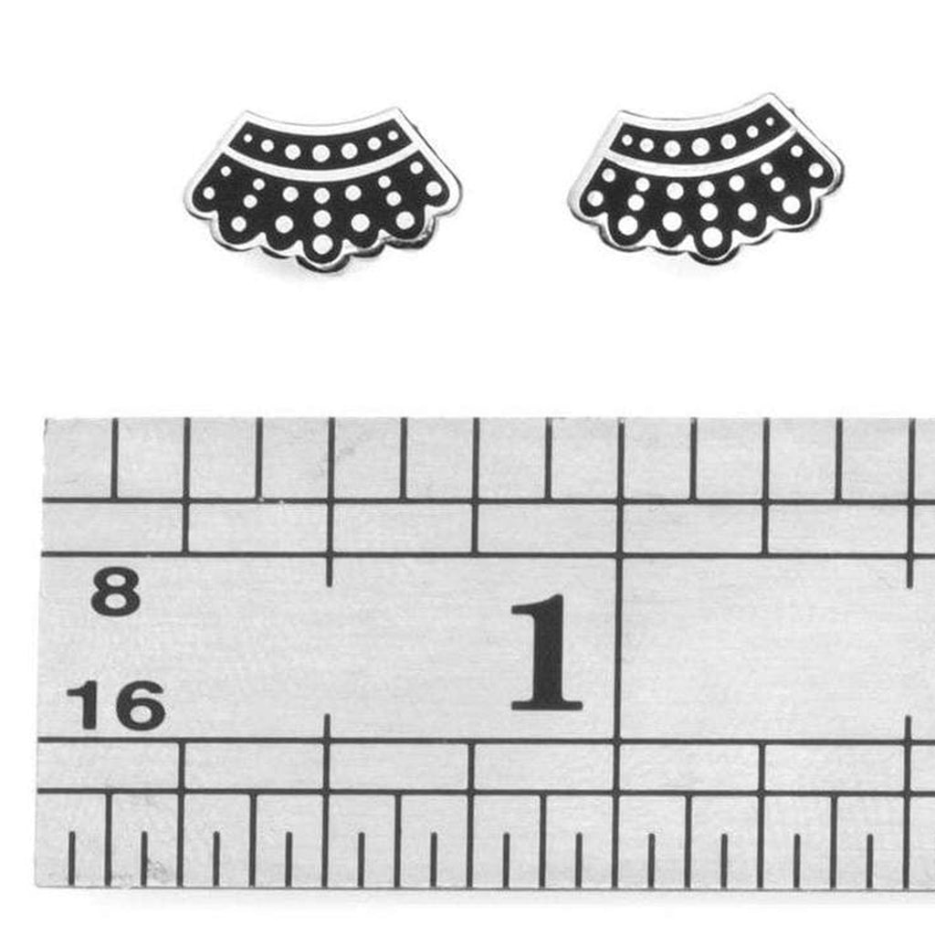 rbg dissent collar earrings