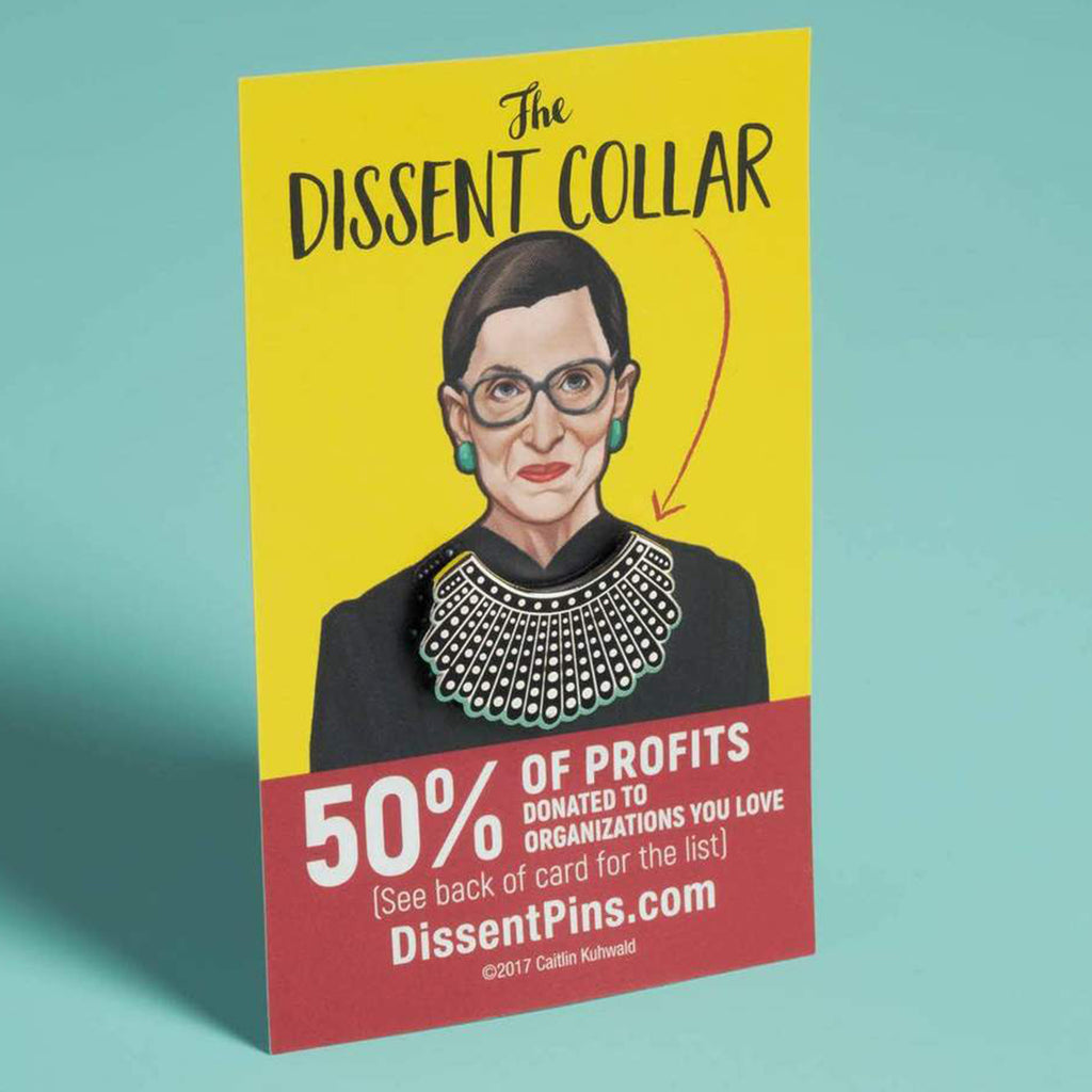 rbg dissent collar pin
