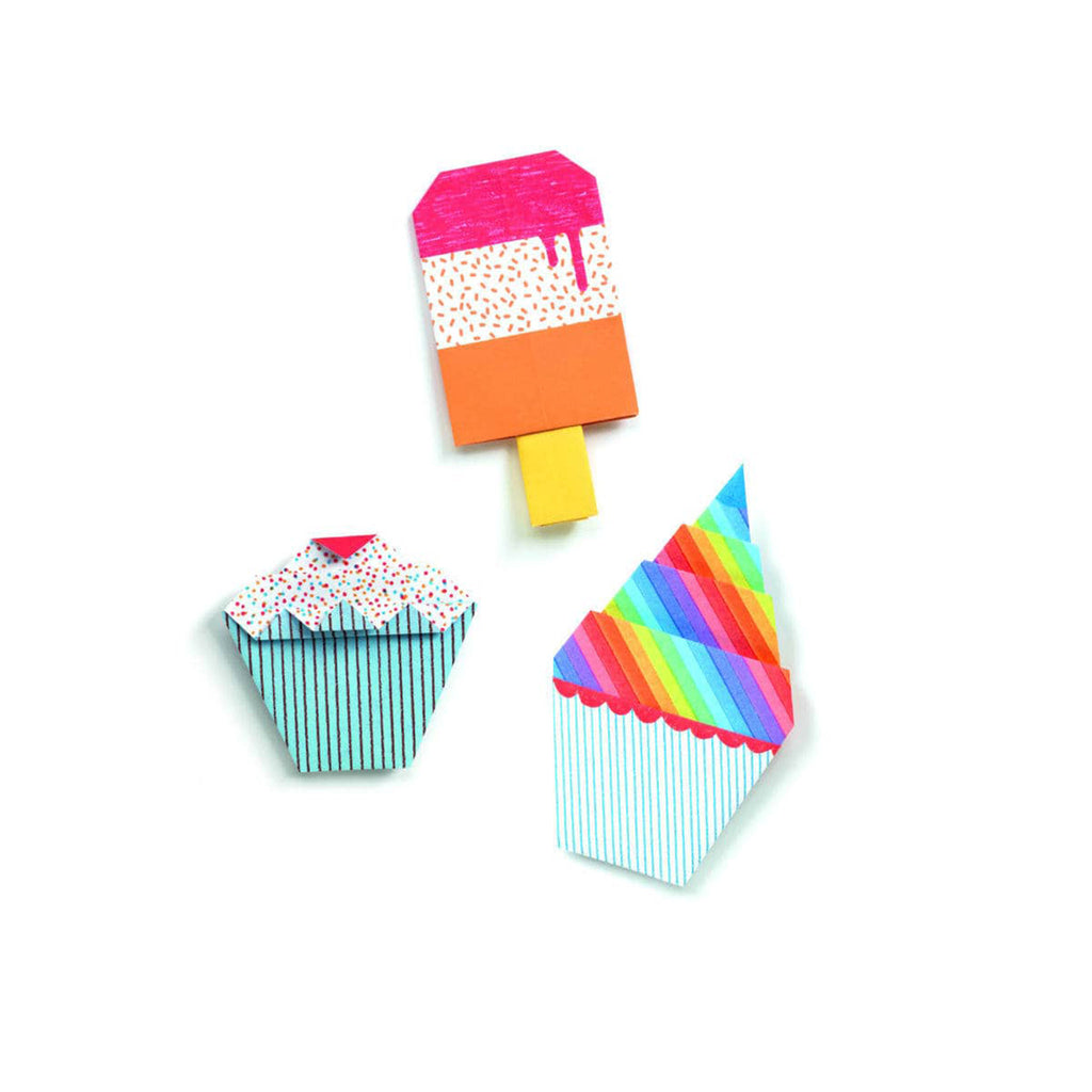 djeco sweet treats easy origami completed examples
