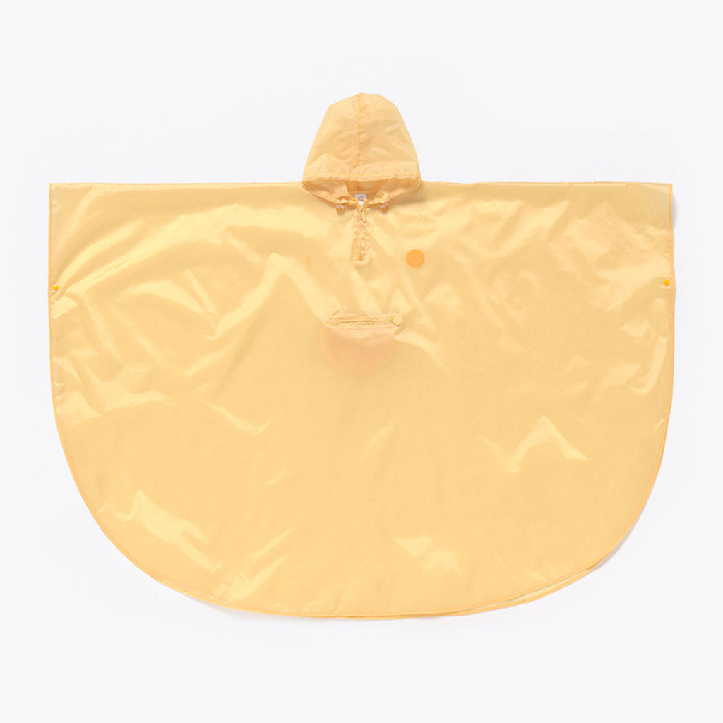 doiy design smile in the rain yellow adult rain poncho unfolded