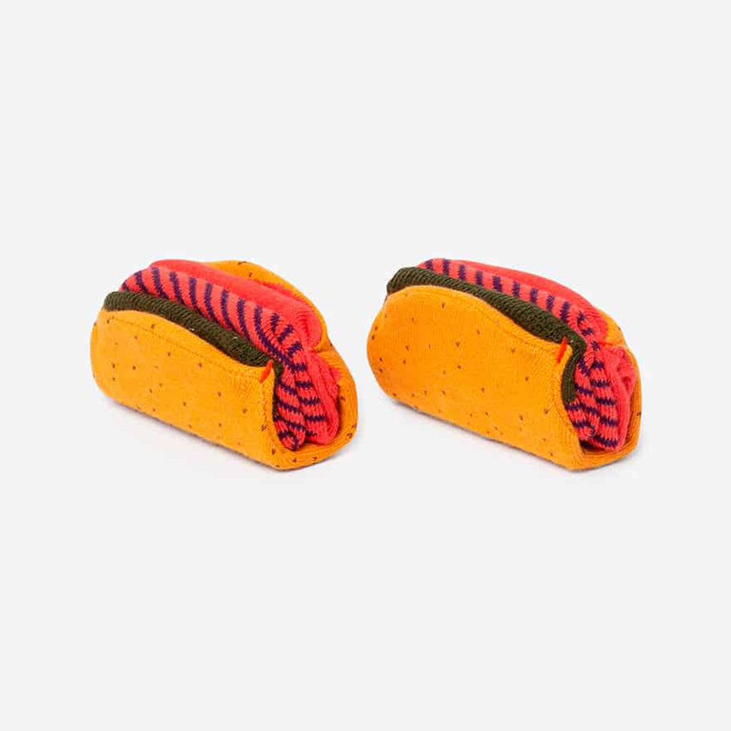 doiy design taco unisex pair of socks out of packaging