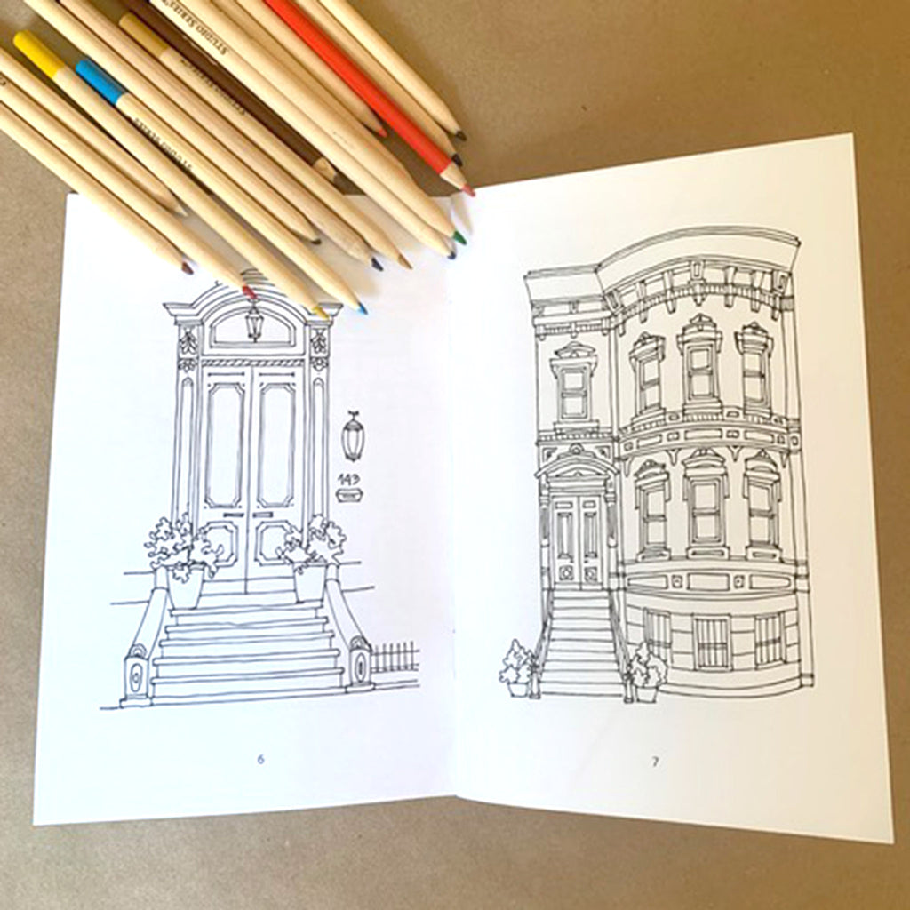 drawingabriela the coloring book brooklyn brownstones and more brownstone sample page