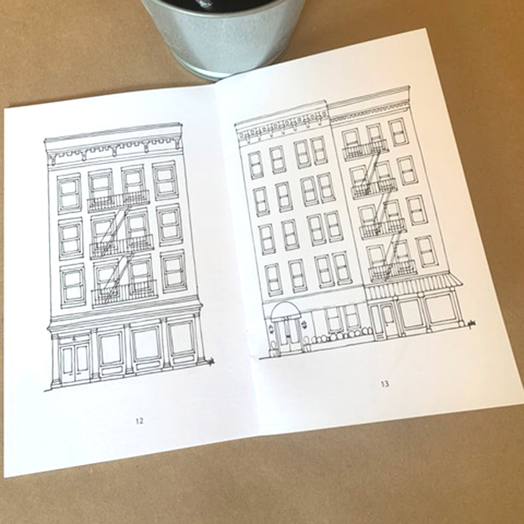 drawingabriela the coloring book brooklyn brownstones and more storefront sample page