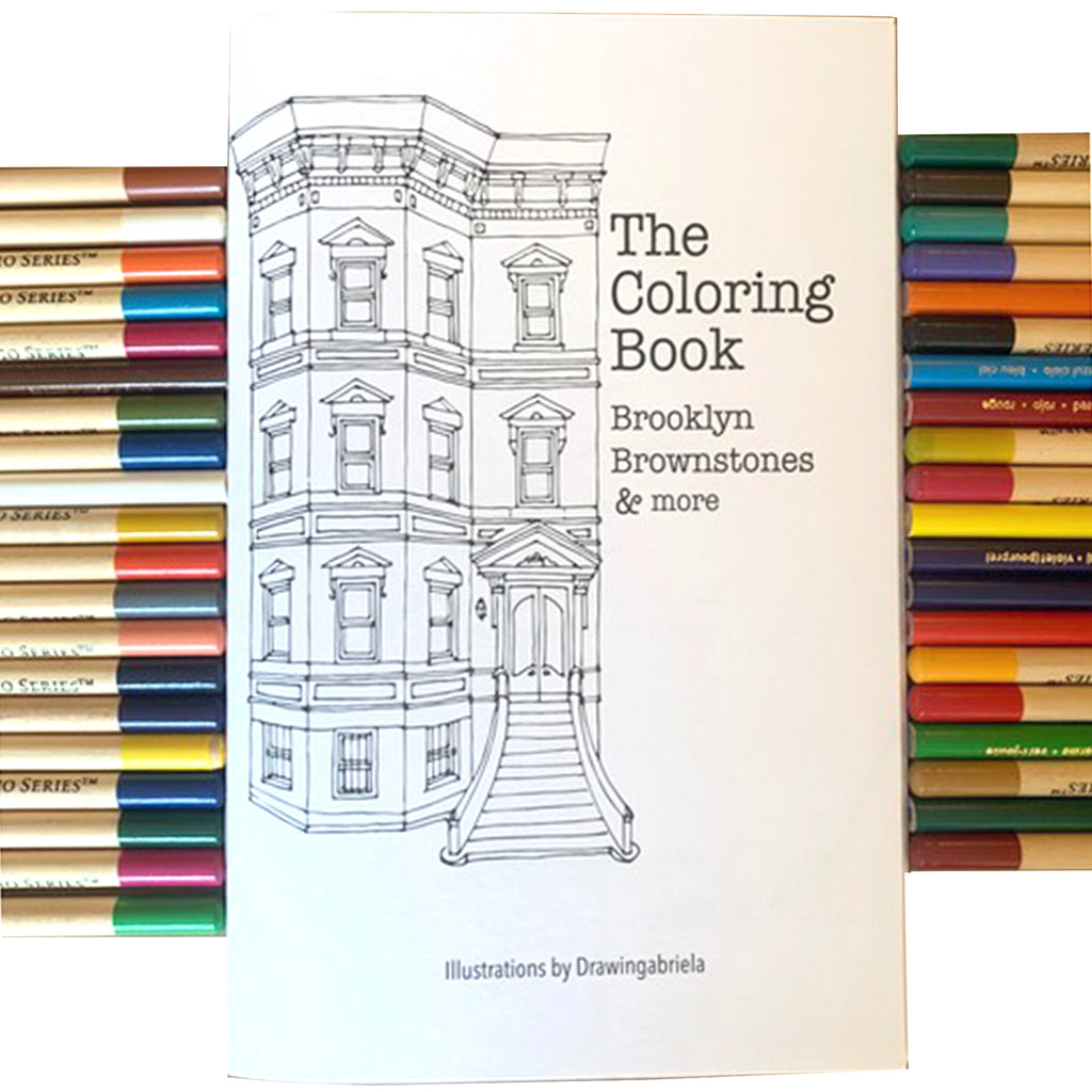 drawingabriela the coloring book brooklyn brownstones and more cover with pencils