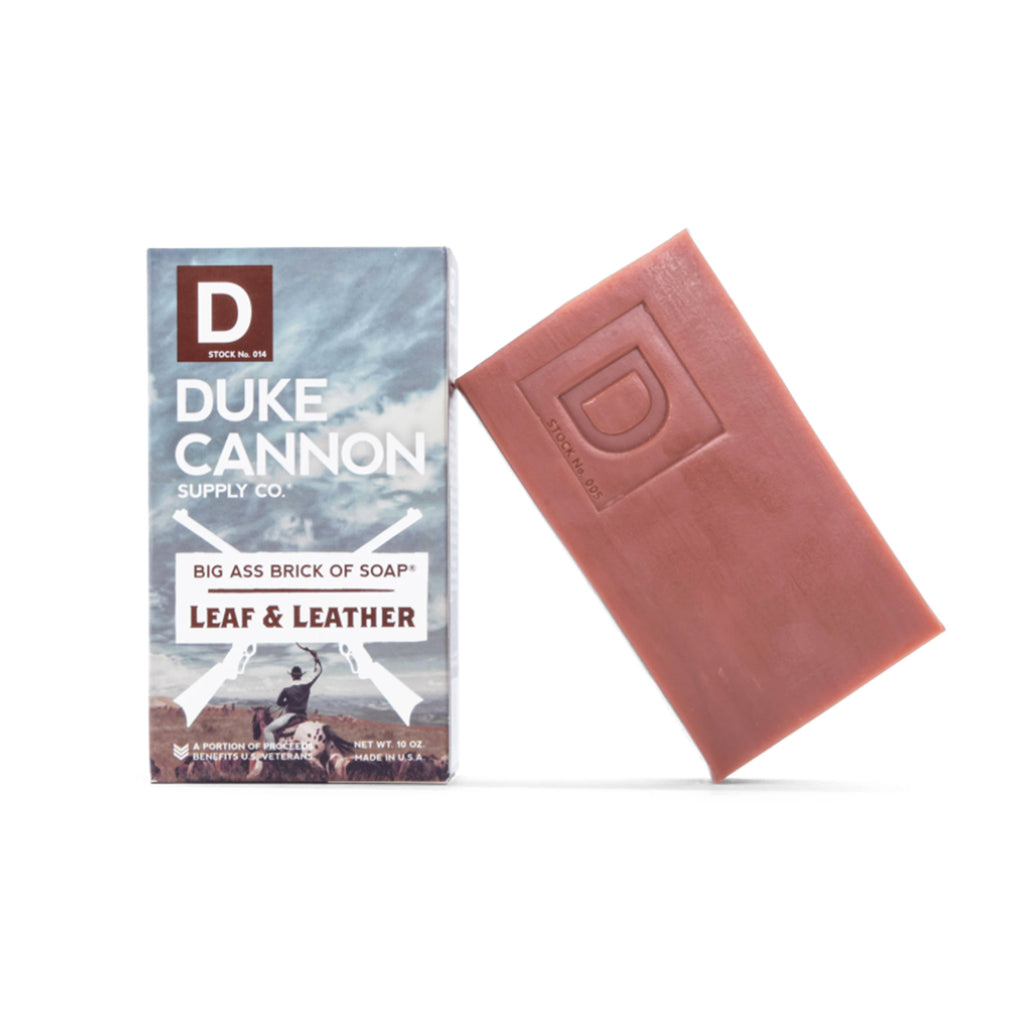 duke cannon big ass soap leaf and leather