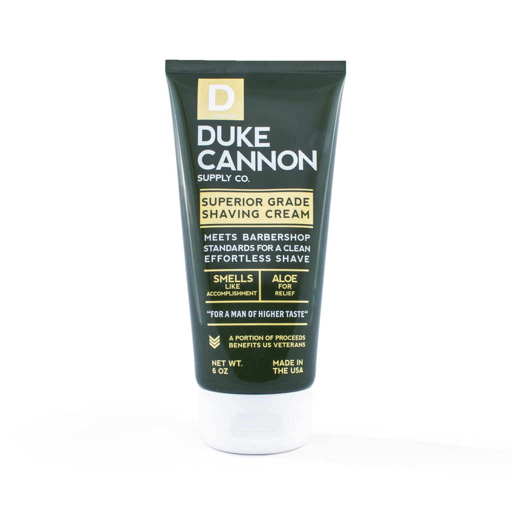 duke cannon superior grade shaving cream tube front